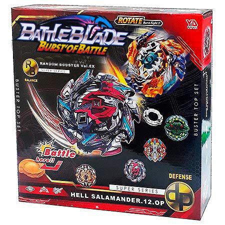 Набор Battle Blade  арена желтая + 12 волчков с пускателями