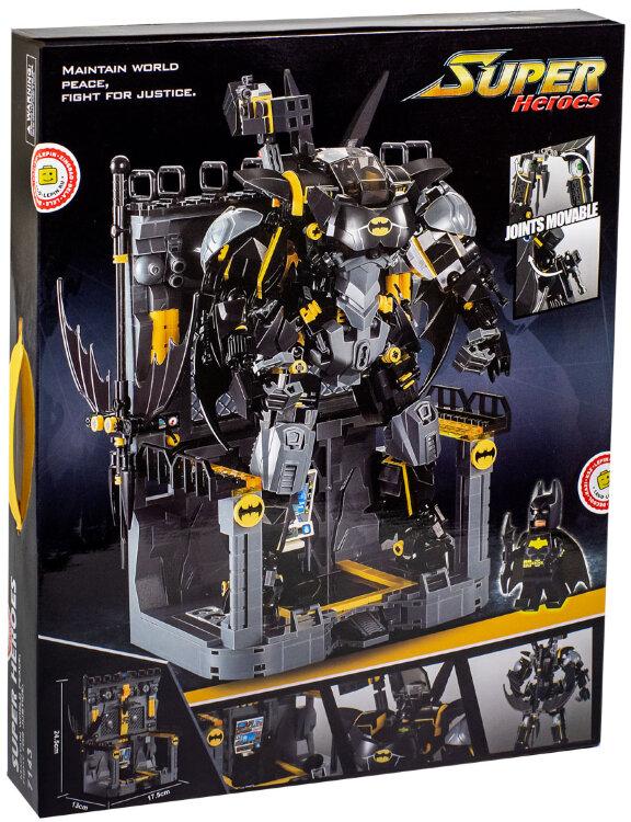 Конструктор Бэтмен JiSi Bricks Bat Mech 7143, 1181 деталь