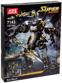 Конструктор Бэтмен JiSi Bricks Bat Mech 7143, 1181 деталь