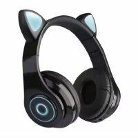 Беспроводные наушники с ушками светящиеся  Cat Ear HXZ-B39 Черные