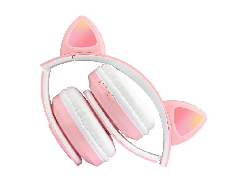 Беспроводные наушники с ушками светящиеся  Cat Ear HXZ-B39