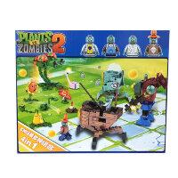 Набор из 4 конструкторов Зомби против растений 4в1 (727 дет) Plants vs Zombies 83002