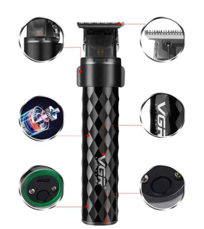"""Триммер для бороды и усов, """"Триммер VGR Professional"""" V-170, черный"""