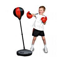 Напольная детская боксерская груша с перчатками