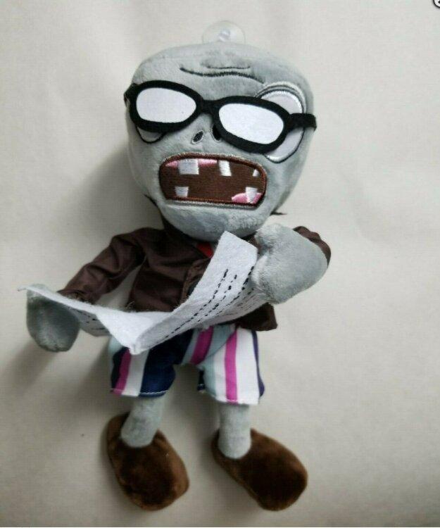 Мягкая игрушка Зомби с газетой 30 см. Растения против зомби