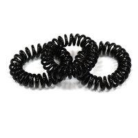 Черные резинки-пружинки для волос