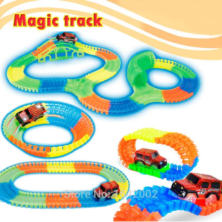Светящаяся трасса Magic Track car 128 деталей