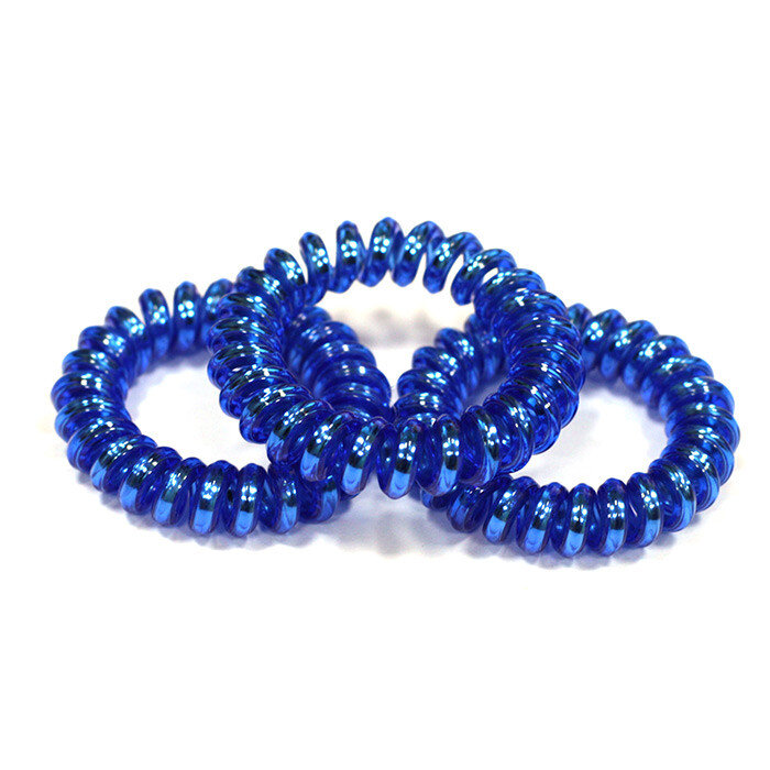 Синие резинки-пружинки для волос