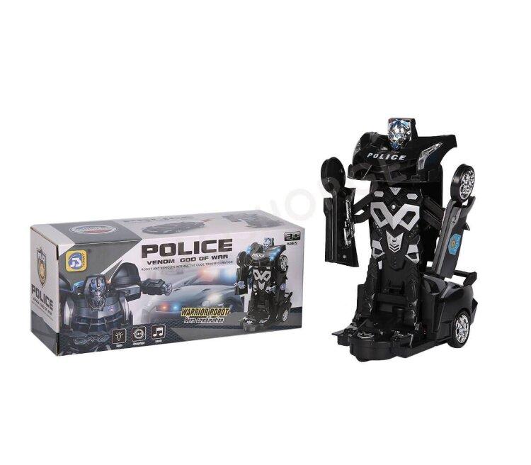 Машина - трансформер Полицейский авто (свет,звук)