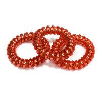 Рыжие резинки-пружинки для волос