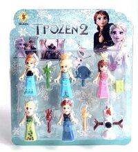 Набор из 6 фигурок для конструктора Холодное сердце 2 (Олаф, 3 фигурки Эльза, 2 фигурки Анна)