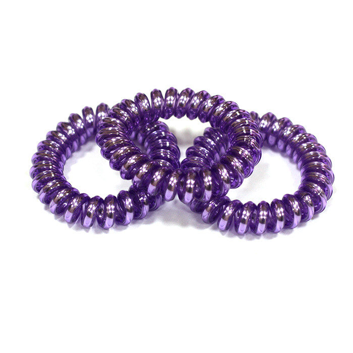 Фиолетовые резинки-пружинки для волос