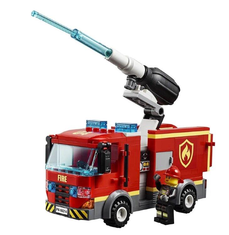 Конструктор Сити Пожар в бургер кафе  345 дет  Lari 11213