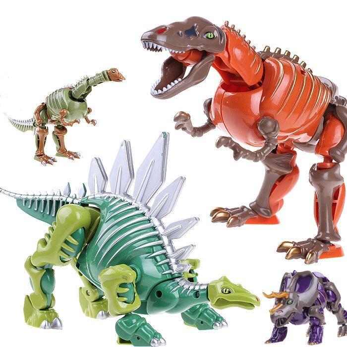 """Динозавр трансформер """"Стегозавр"""" Crazy Dragon Warrior 20 см"""