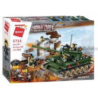 """Конструктор военный танк """"Combat zone"""" 380 дет.в кор. (Enlighten Brick)  1711"""