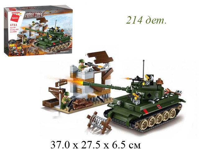 """Конструктор военный танк """"Combat zone"""" 380 дет. (Enlighten Brick)  1711"""