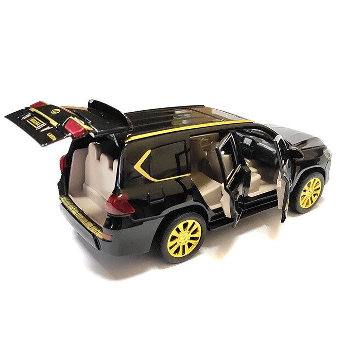 """Машинка металлическая инерционная """"Lexus LX"""" 1:24 (черный в коробке)"""