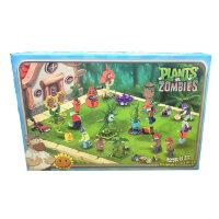 Набор из 8 конструкторов Зомби против растений  Plants War LQS7024