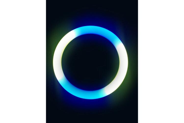 Кольцевая лампа цветная (мультиколор)  RGB LED MJ33 32 см, с держателем для смартфона