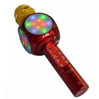 Bluetooth караоке микрофон Wster WS-1816 (красный)