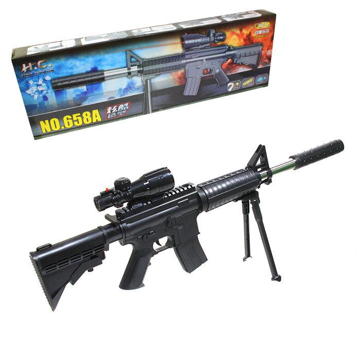 Детская снайперская винтовка с лазерным прицелом 658А