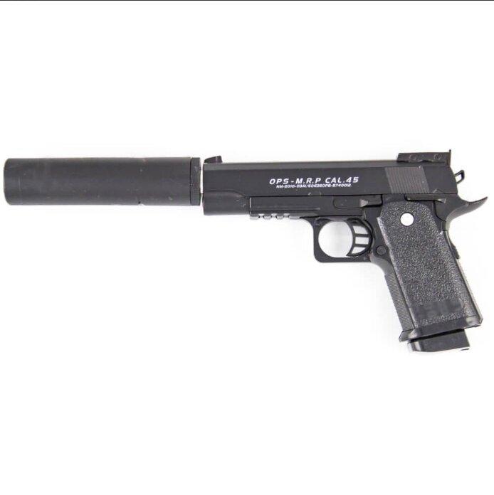 Страйкбольный пистолет с глушителем Valour Herald