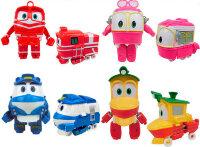 Набор трансформеров Робот Поезд  4 шт (Дак, Селли,  Кей, Альф)