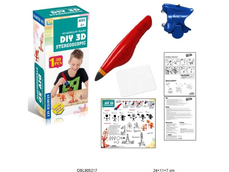 Набор для рисования в 3D  (3Д ручка 1 картридж)