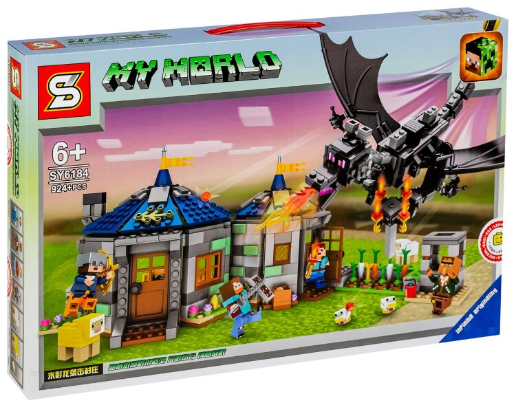 Конструктор майнкрафт Возвращение черного дракона SY 6184