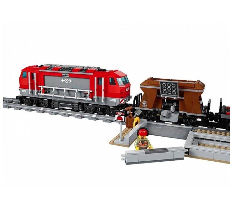 Электромеханический конструктор  Мощный грузовой поезд Cities  28033