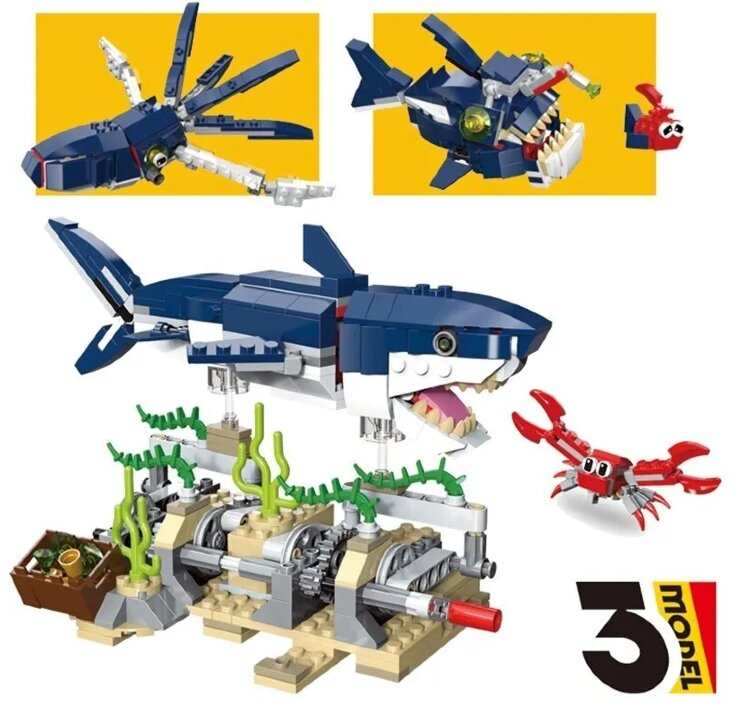 "Конструктор Multificence 3 в 1 ""Обитатели морских глубин"" 388 дет 31009"