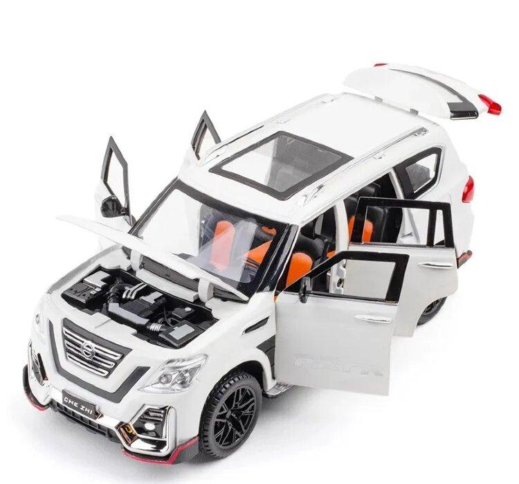 """Металлическая инерционная машинка """"Nissan Patrol""""  21 см (1:24)"""
