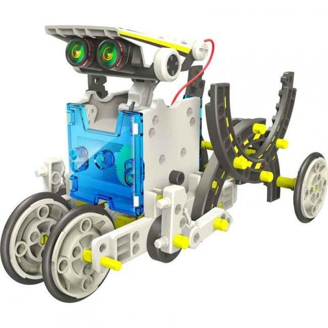 Конструктор Solar Robot Kit 14 в 1 для создания 14 роботов, работающих на солнечных батареях