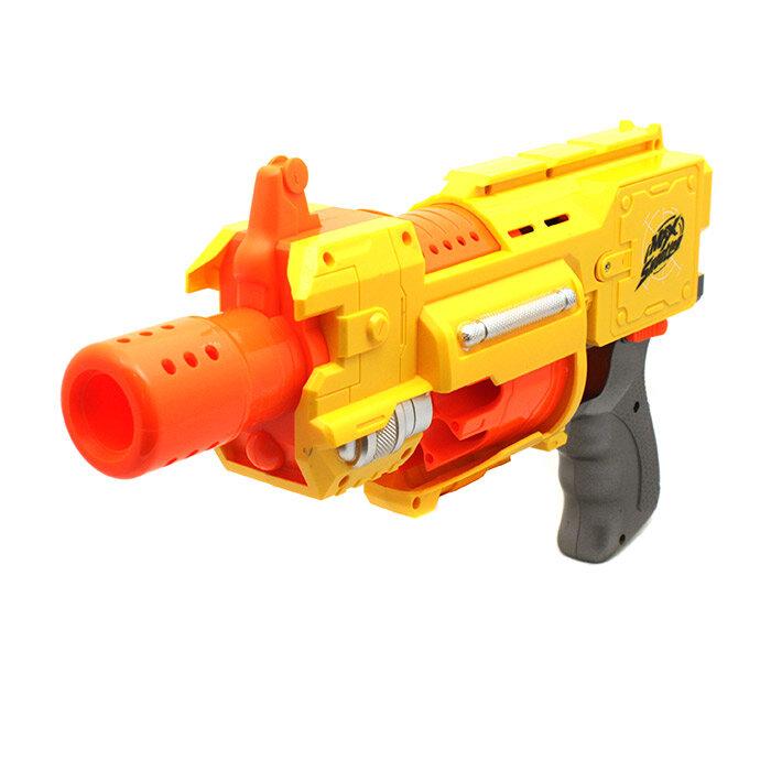 Автоматический бластер с мягкими пулями Дикий вихрь Whirlwind Hero 323-1
