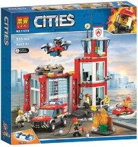 """Конструктор Cities """"ПОЖАРНОЕ ДЕПО"""" 533 дет. Lari 11215"""