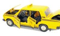 Металлическая инерционная машинка Лада ВАЗ 2107 Такси 1:24 19 см