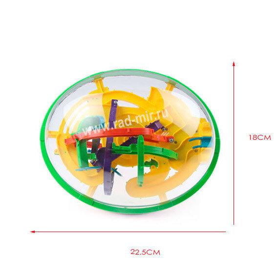 "3D головоломка ""Шар-Лабиринт"" 22см. 208 ходов"