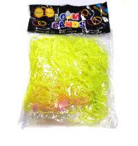 Резиночки  ярко-желтые прозрачные  для плетения браслетов