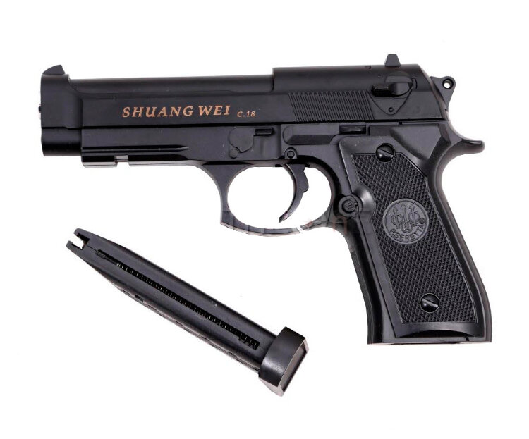 Пистолет для страйкбола Airsoft Gun C18 (Beretta M9A1)