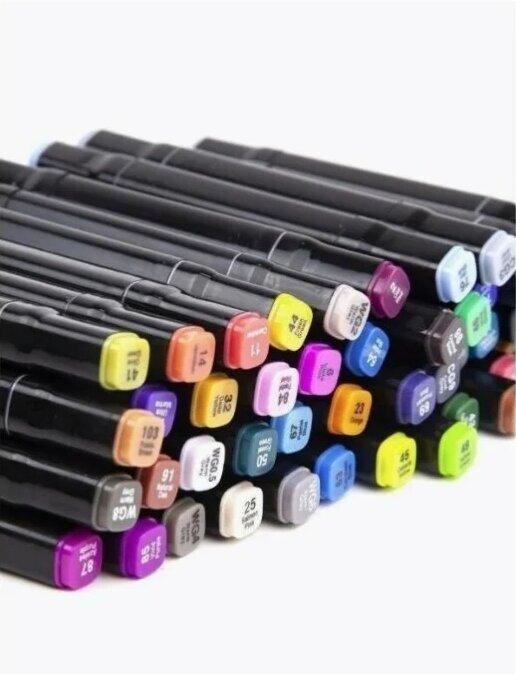 Скетч-маркеры 60 цветов  двухсторонние  Twin Art SketchMarker