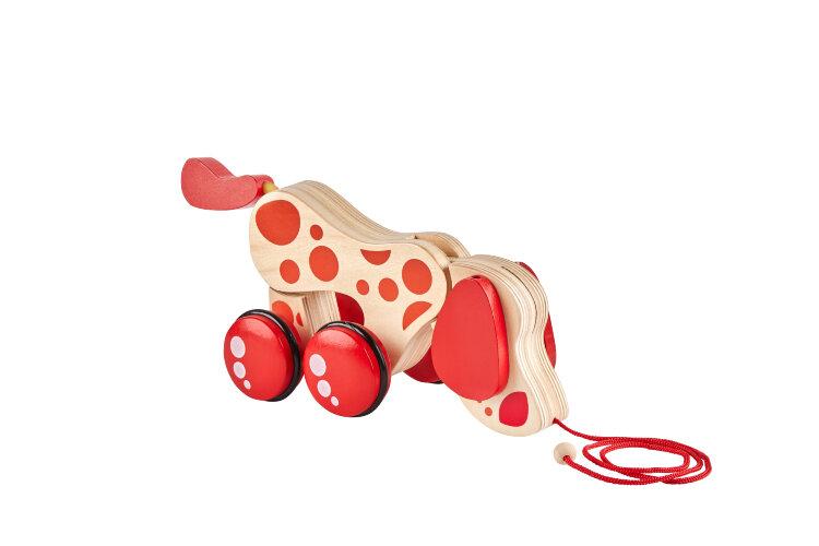 """Деревянная игрушка-каталка """"Собачка"""" на веревке"""