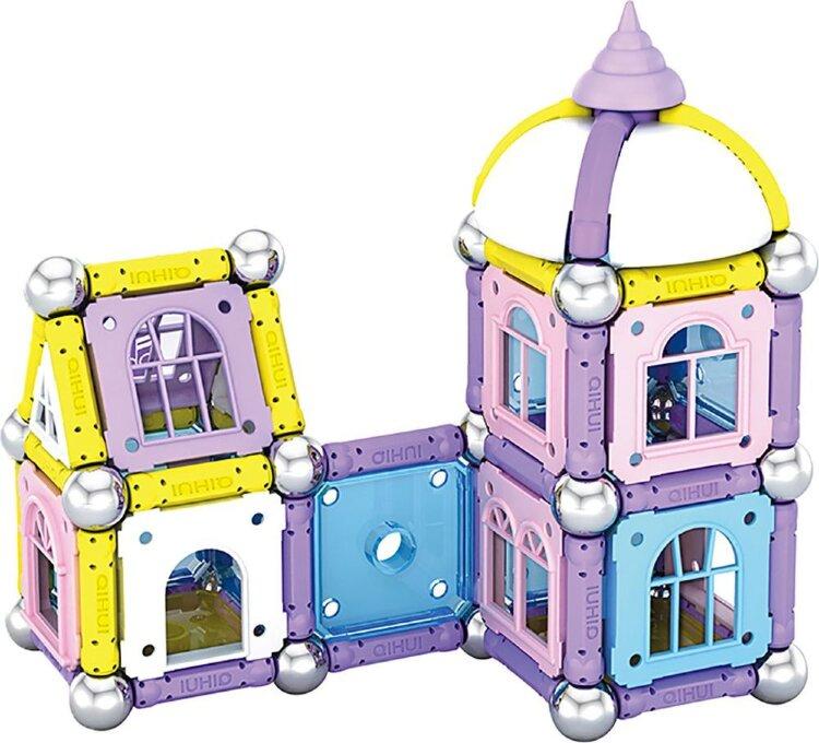 """Магнитный конструктор """"Мой дом"""" с шариками и палочками 108  дет. Magnetic world"""