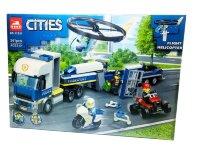 """Конструктор City """"Полицейский вертолетный транспорт"""" 341 дет. 11531"""